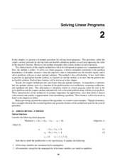 Chapter 2 - Solving Linear Programs