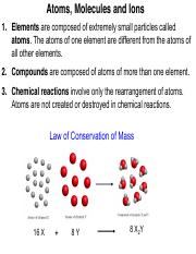 Atoms, Molecules & Ions (Ch2)(1)