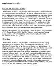 No Child Left Behind Act of 2001 Research Paper Starter - eNotes.pdf