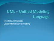 #3 Unified Modeling Language