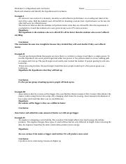 Worksheet 1.4 Hypothesis and conclusion.docx