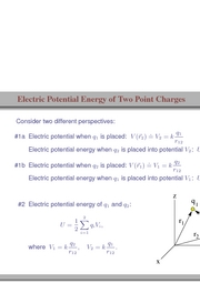 101. Electric Potential Energy of Two Point Charges