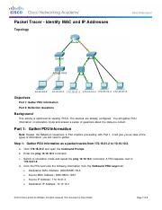 5.3.1.3 Packet Tracer - Identify MAC and IP Addresses