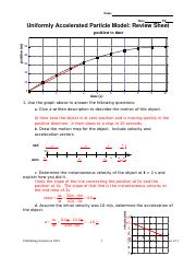 Unit 3 Worksheet 3 - Name Date Pd Uniformly Accelerated ...