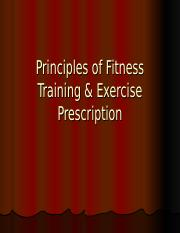 Principles of Exercise Prescription