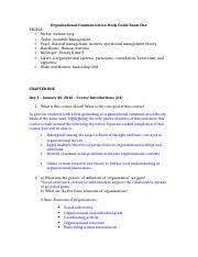 Organizational Communication Study Guide Exam One