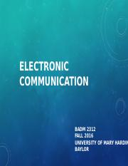 BADM2312_F16_ElectronicCommunication