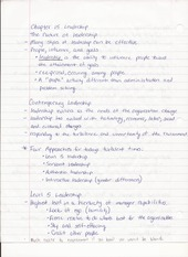 Bus Adm 382 Chapter 15 Leadership Lecture Notes
