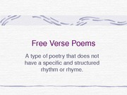 Free Verse Poems power point