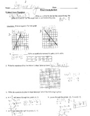 linear equation notes