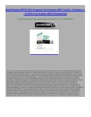 Cfa Program Ebook