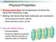 Chapter 3 part 2, organic compounds and physical properties