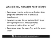 Lecture 02- What do new managers need to know