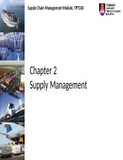 Chapter 2 Supply Management