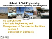 Lecture 5-Construction Contracts