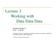 Lecture_3 Working with Data Data Data