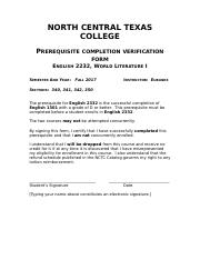 English 2332 Prerequisite Form fall 2017.docx