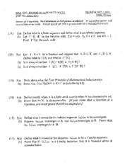 Exam 2 Solution Fall 2014 on Introduction to Advanced Math