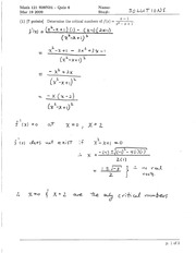 Math 121 Quiz 6 Solutions