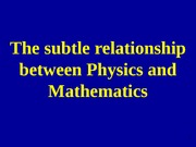 Mathematics and Physics_ASC_Aug2009