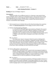 Active worksheet - Session 11