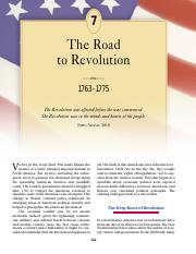 chapter 7 the road to revolution
