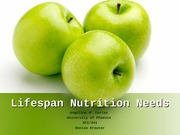 Week 7 CheckPoint - Lifespan Nutrition Needs