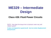 Class 28 -Fluid Power Circuit Sizing - Post