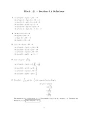 Composite Functions 5.1