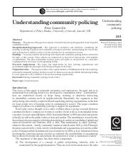 understanding community policing