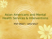 L17 AA and mental health services post