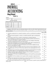 payroll project chapter 7 answers 2012 bieg toland Question description i need help with my payroll project chapter 7 from payroll  accounting 2018 by bieg and toland i have attached the excel files thank you.