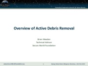 weeden - overview of orbital debris removal