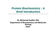 Lecture-3-Protein-Biochemistry