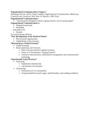 Organizational Communications Chapter 1