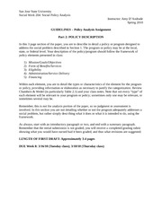 GUIDELINES - Policy Paper (2 Policy Description)