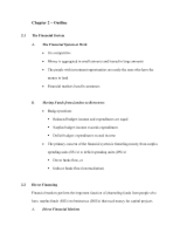 Financial Management-Chapter 2 Outline