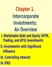 Ch 1. Intercorporate Investments_An Overview