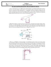 Midterm Exam 1 2010 Solution on Intermediate Mechanics of Fluids