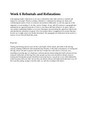 Week 6 Rebuttals and Refutations 3.8.docx