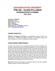 TFM 160 SYLLABUS  FALL 2014(8)