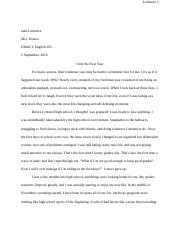 Common Application Essay Final Draft
