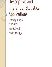 Descriptive and Inferential Statistics Applications Week 5.pptx