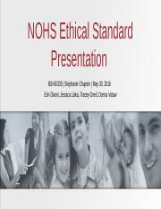 NOHS Ethical Standard Presentation