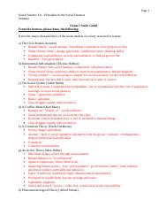 Exam 2 Study Guide Summer 2016