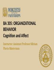 Lecture 1.4 Cognition and Affect(1) (1)