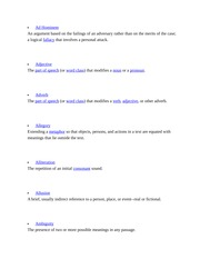 Vocabulary Letter A
