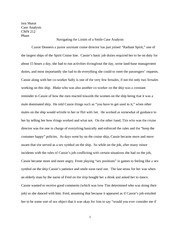 Demonstration speech thesis statement