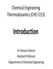 CET Chapter 1 (CHE F213)