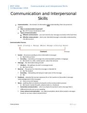 Test 3 Communication and Interpersonal Skills.docx